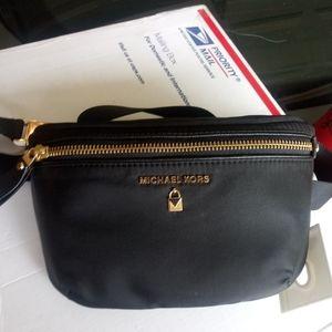 Michael Kors black fanny pack. Authentic. NWT